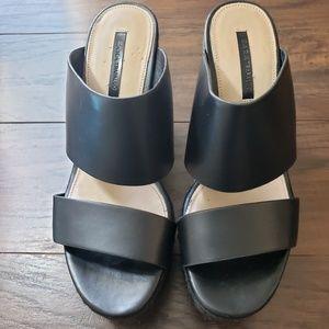 Zara Trafaluc Slip On Wedge Shoes Size 6/EU 36